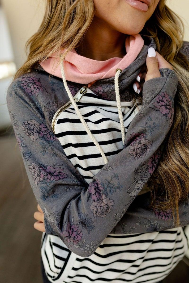 DoubleHood Sweatshirt  Blossom Babe
