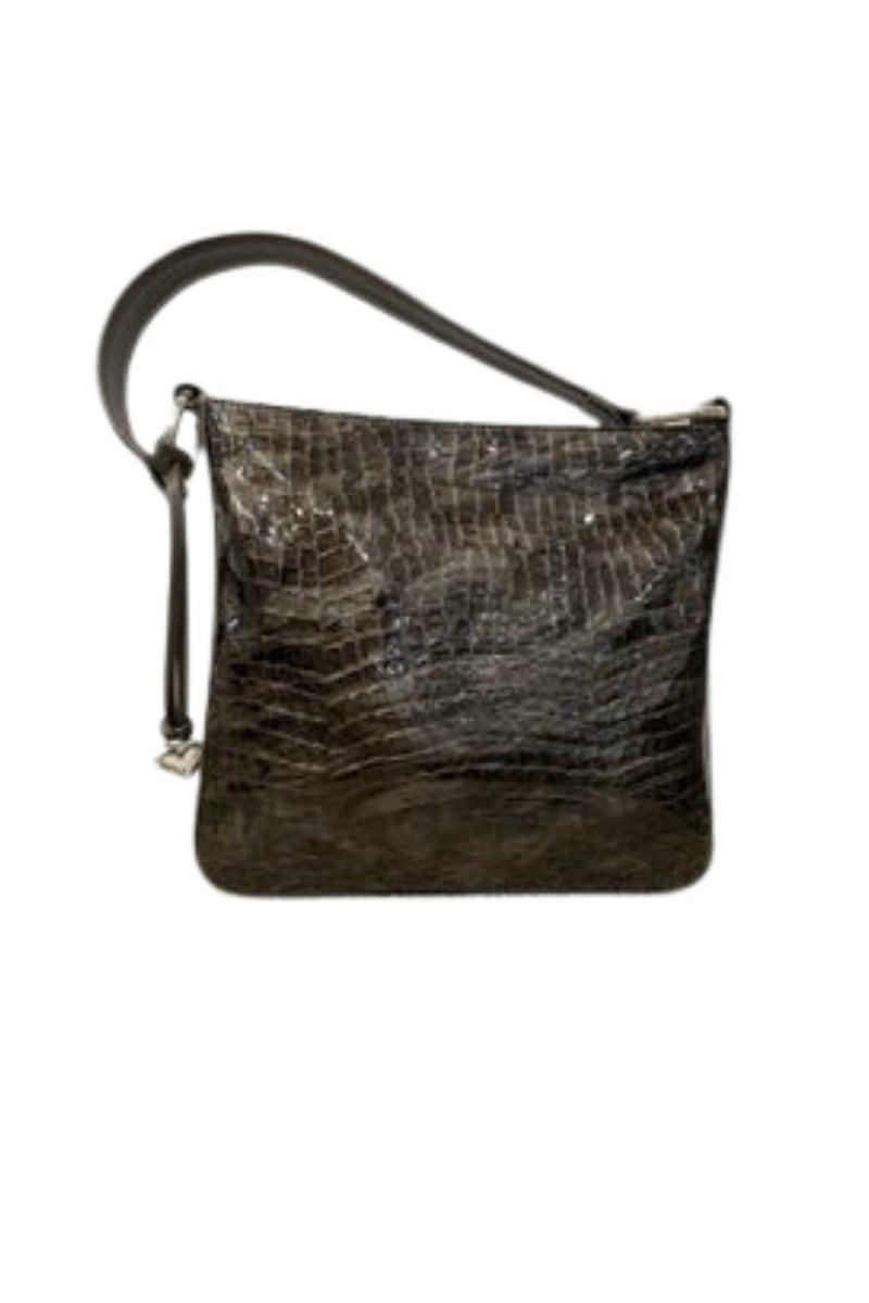 """CHER"" Bronze Patent Leather Shoulderbag"