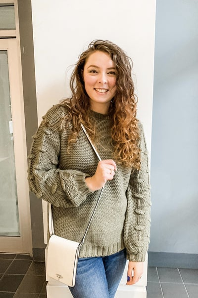Pom Sleeve Sweater *Final Sale*