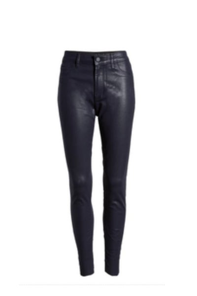 Wax Coated High Waist Skinny Jeans *Final Sale*