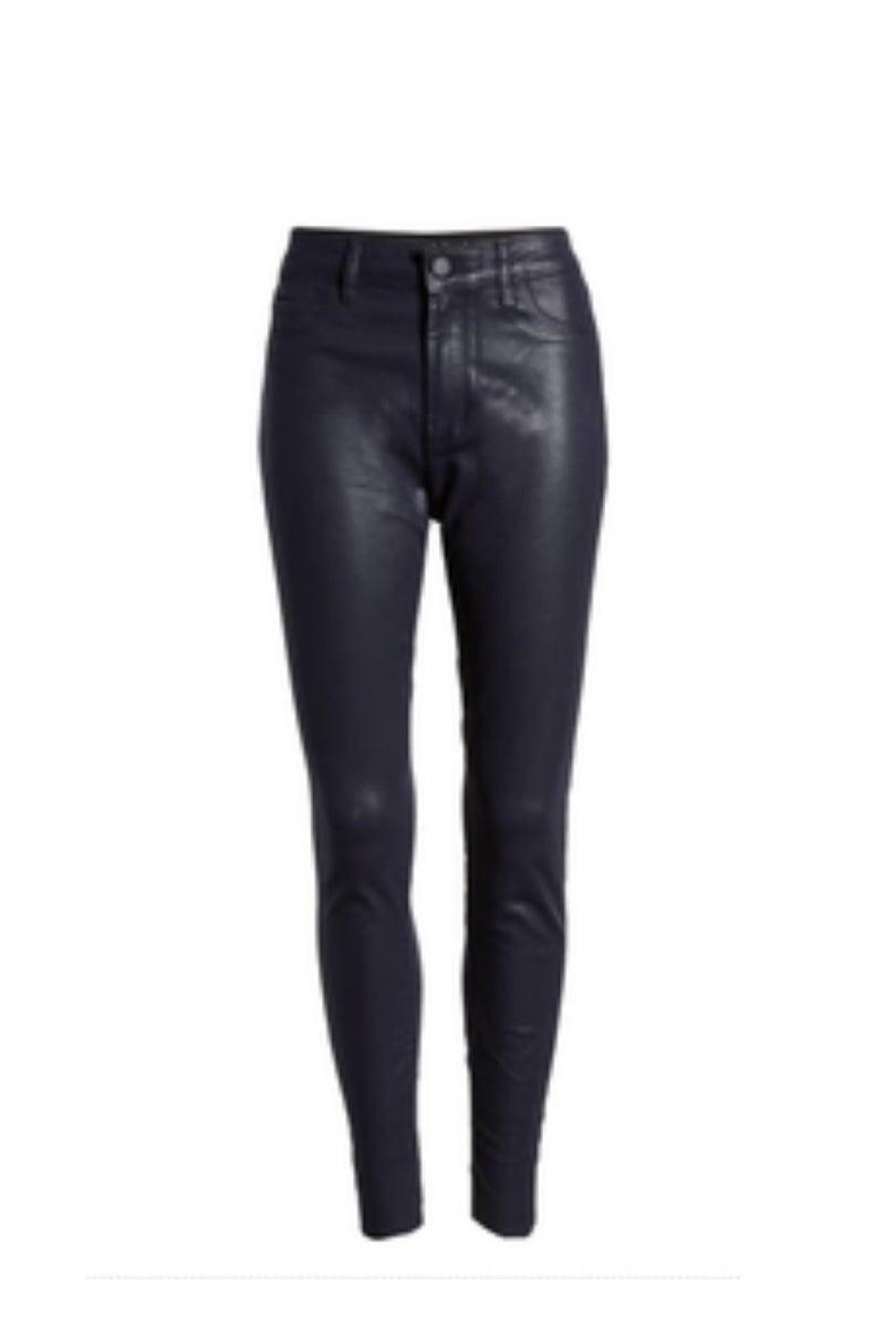 Wax Coated High Waist Skinny Jeans *Final Sale*