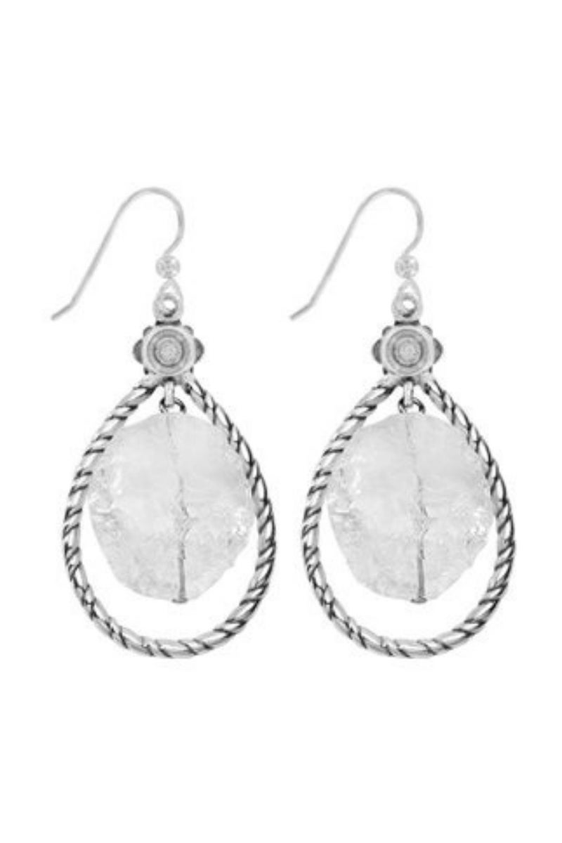 Rajasthan Garden Drop French Wire Earrings