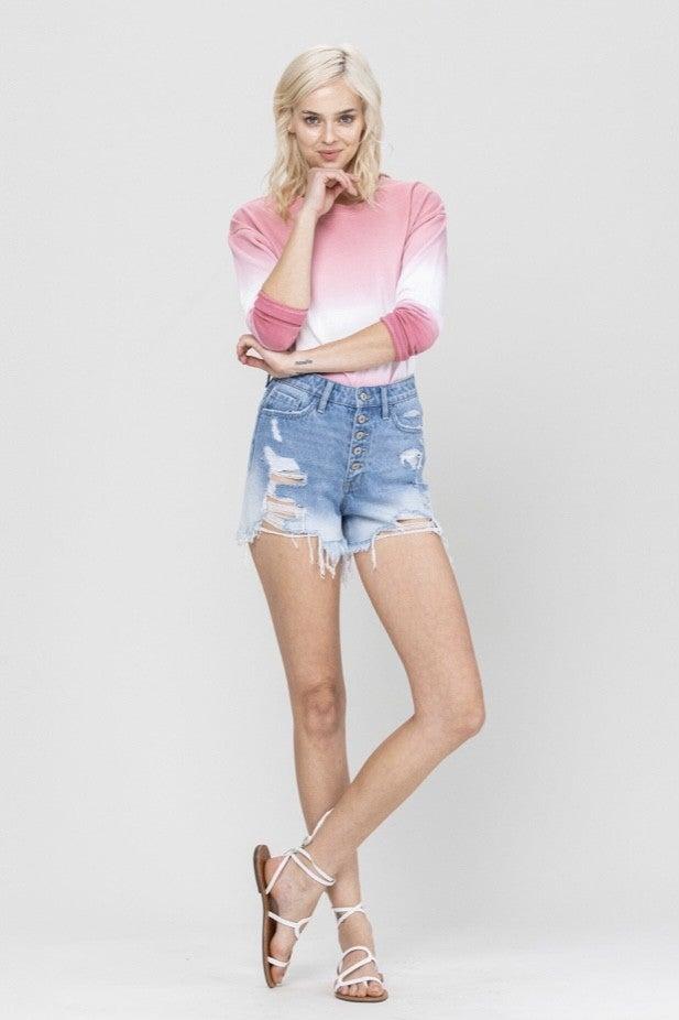 Sienna 5 Button Super High Rise Shorts *Final Sale*