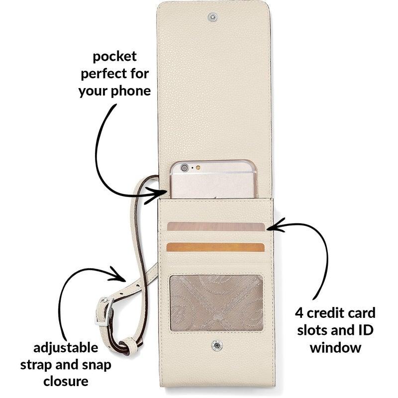 Interlok Phone Organizer Crossbody (White)