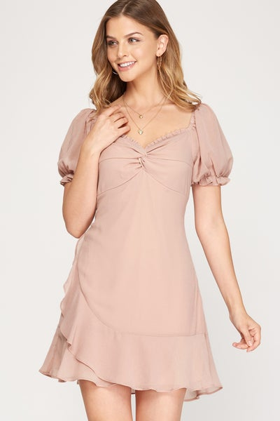 Front Knotted Dress (Color Options)