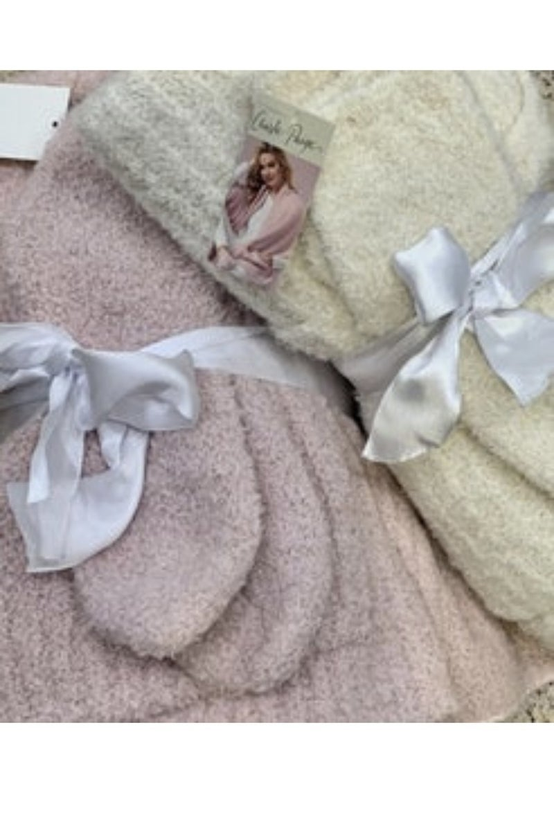 Cozy Blanket Shawl and Sock Set