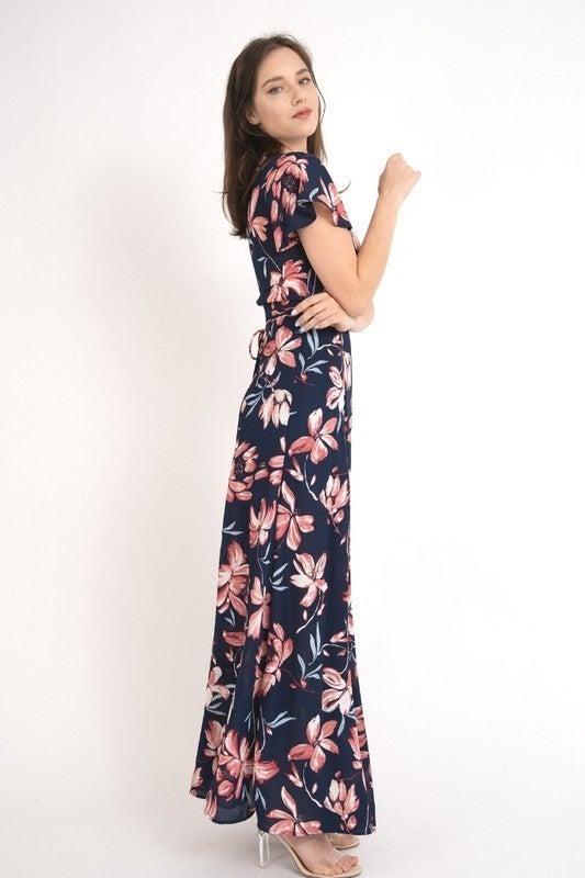 Floral Vibes Wrap Dress