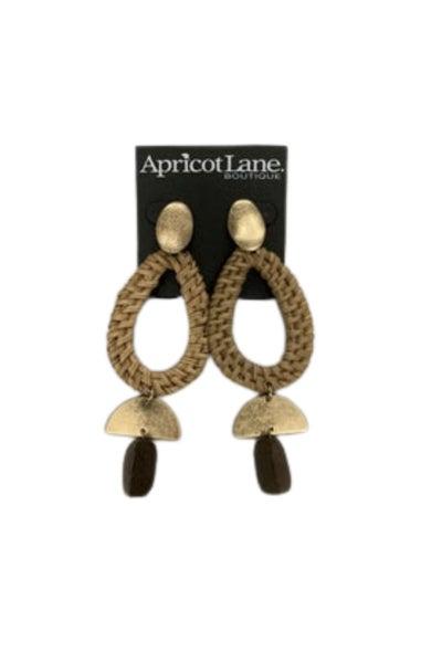 Wicker and Wood Earring
