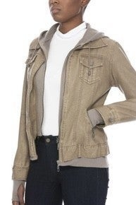 Leather Hooded Jacket-Faux (Color Options Available)