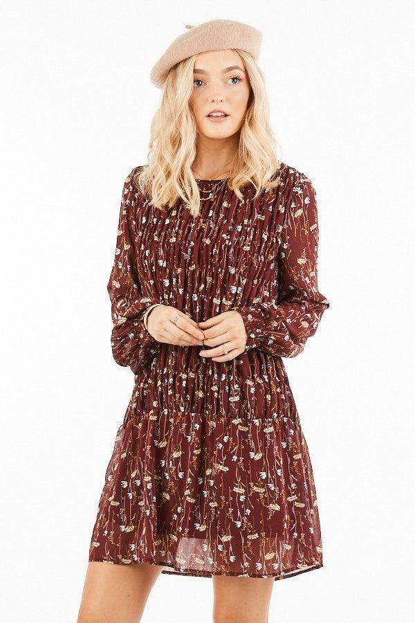 Floral Printed Mini Dress *Final Sale*