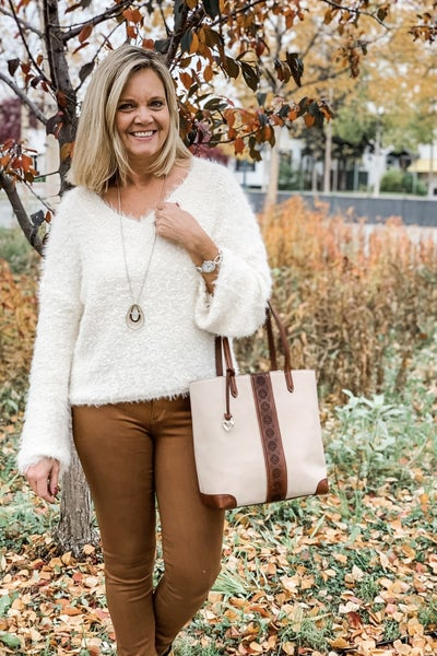Fuzzy Knit Sweater (Color Options Available) *Final Sale*