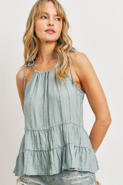 Time Of Your Life Tiered Ruffle Tank Top *Final Sale*