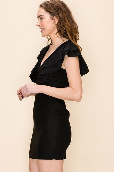 Little Ruffle Black Dress *Final Sale*