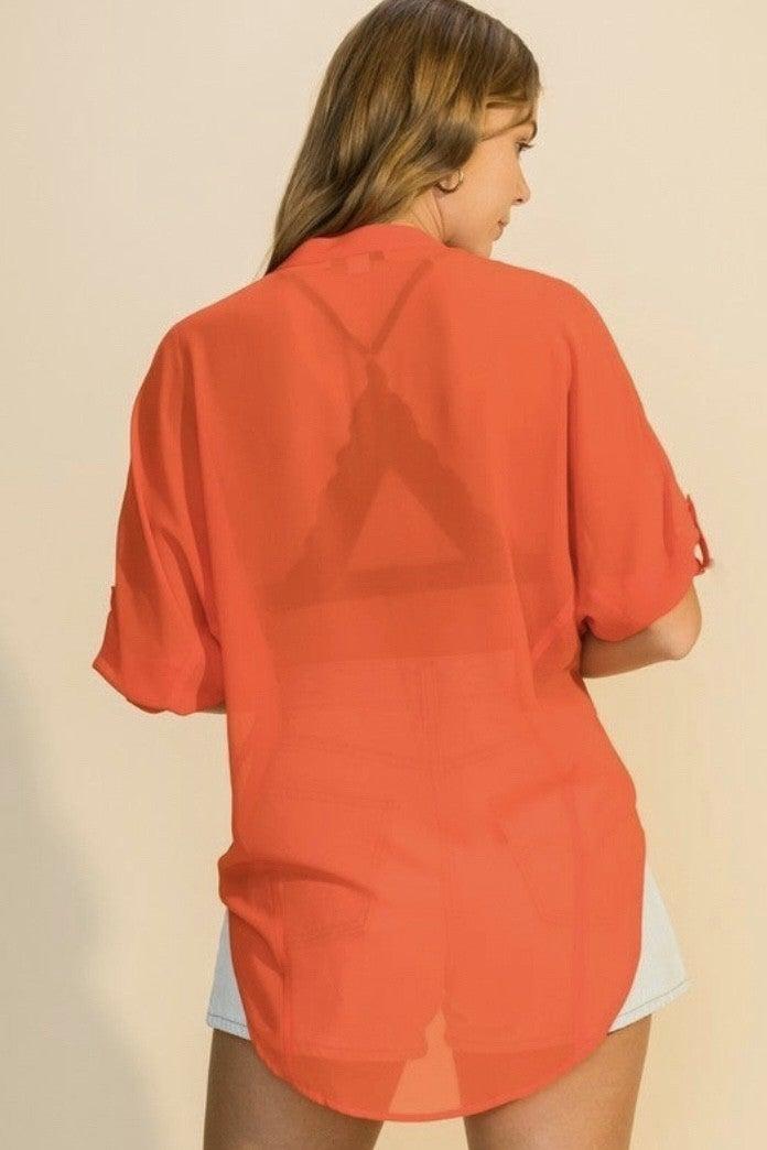 Semi Sheer Shirt *Final Sale*