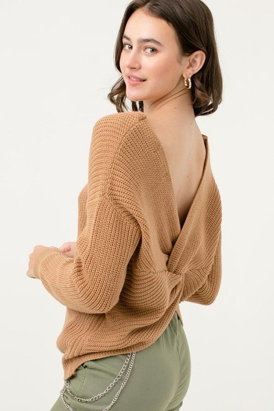Party In The Back Sweater (choice of 2 colors)