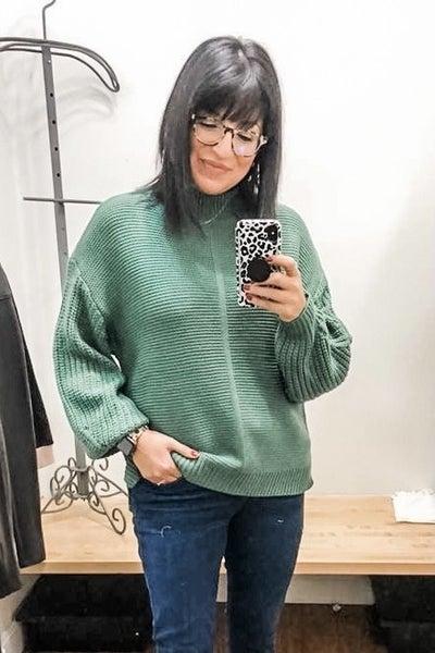 Mock Neck Oversize Sweater *Final Sale*