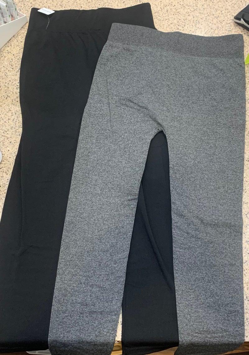 Fleece Lined Leggings - Plus Size (Color Options) *Final Sale*