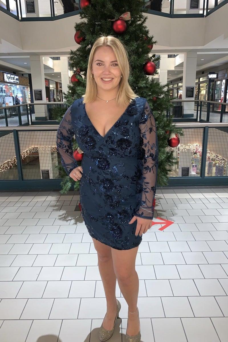 Sequin Rose Dress