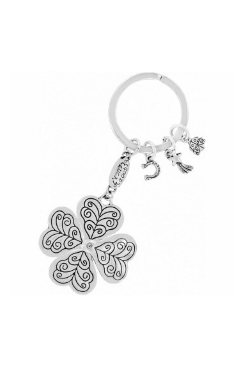 Lucky Clover Heart Key Fob