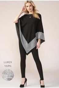 Lurex Trim Poncho (Color Options Available) *Final Sale*