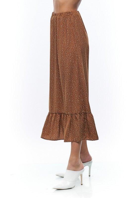Woven Tiered Midi Skirt *Final Sale*