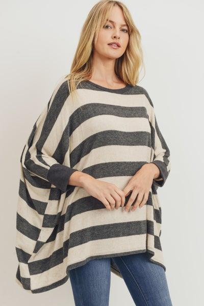 Grey Daze Stripe Sweater