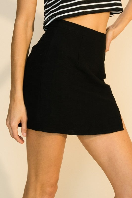 Slit With Me Mini Skirt