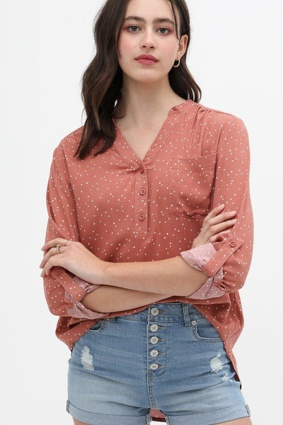 Half Button Up Long Sleeve