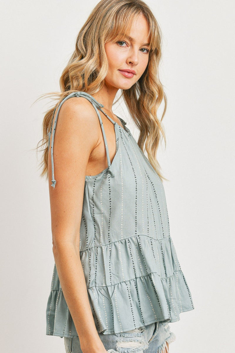 Time Of Your Life Tiered Ruffle Tank Top