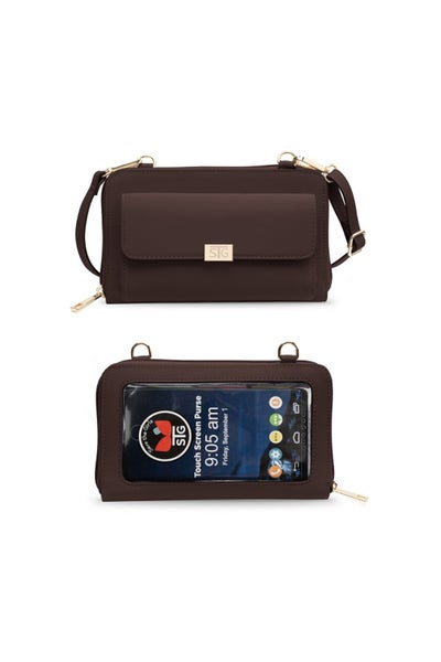 Captiva Touchscreen Phone Purse-Mahogany Plum