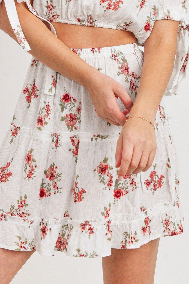 Turn It Around Tiered Gauze Skirt