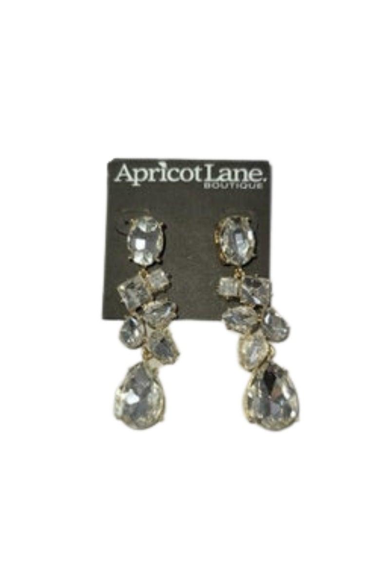 Large Crystal Drop Earrings *Final Sale*