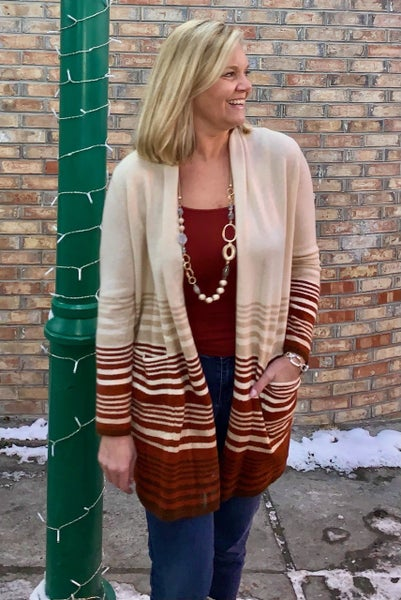Warm Faded Knit Cardigan *Final Sale*