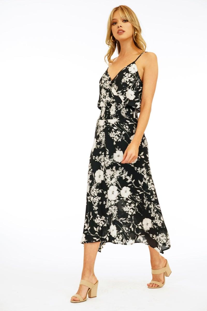 Takara Smock Tank Midi Dress