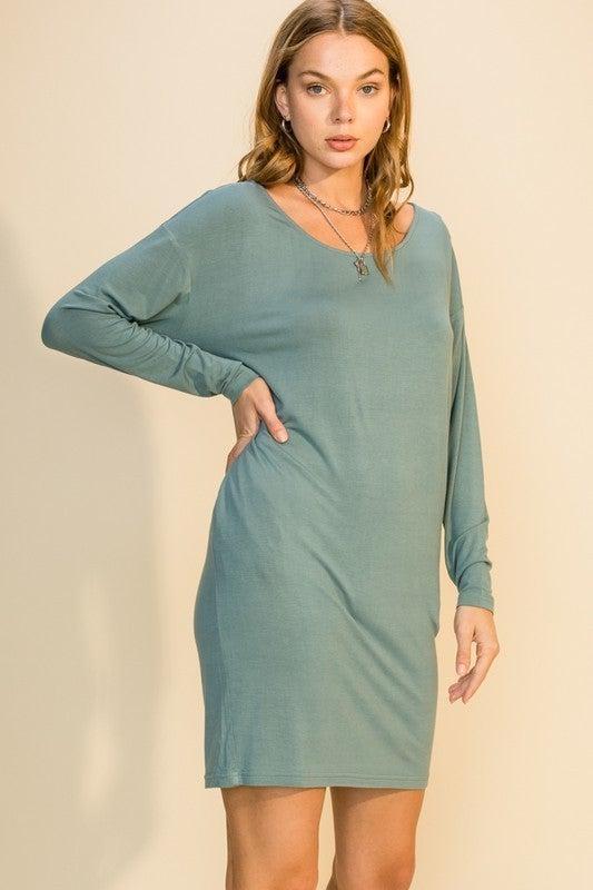 Boat Neck Pocket Dress *Final Sale*