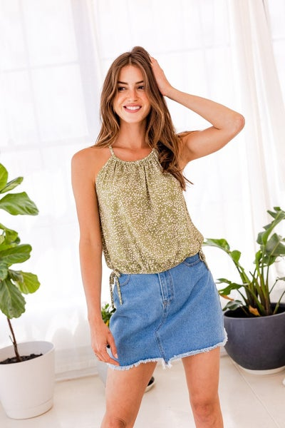 You Spotted Me Halter Top *Final Sale*