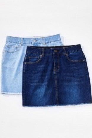 We Love a Classic Denim Skirt (Color Options Available) *Final Sale*