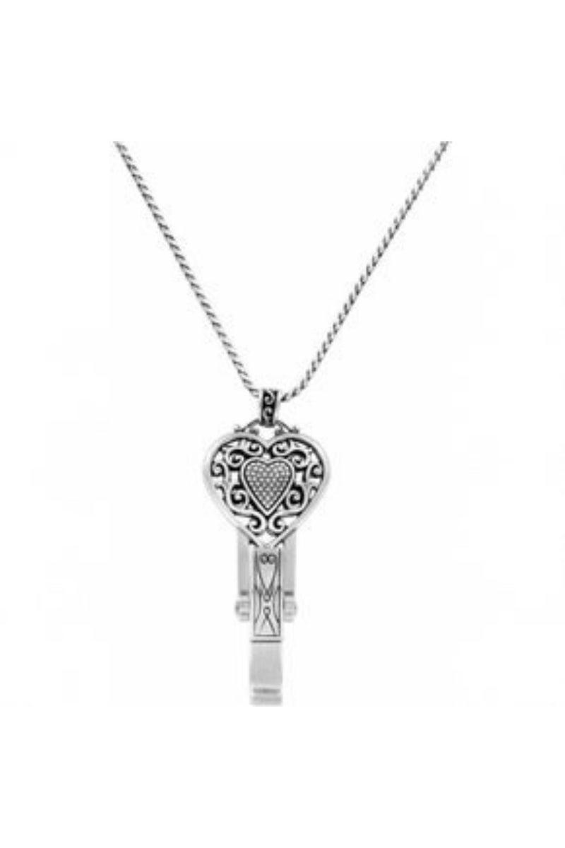 Reno Heart Badge Clip Necklace