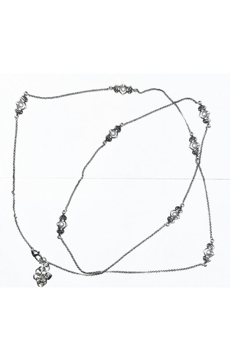 Alcazar Long Pearl Necklace
