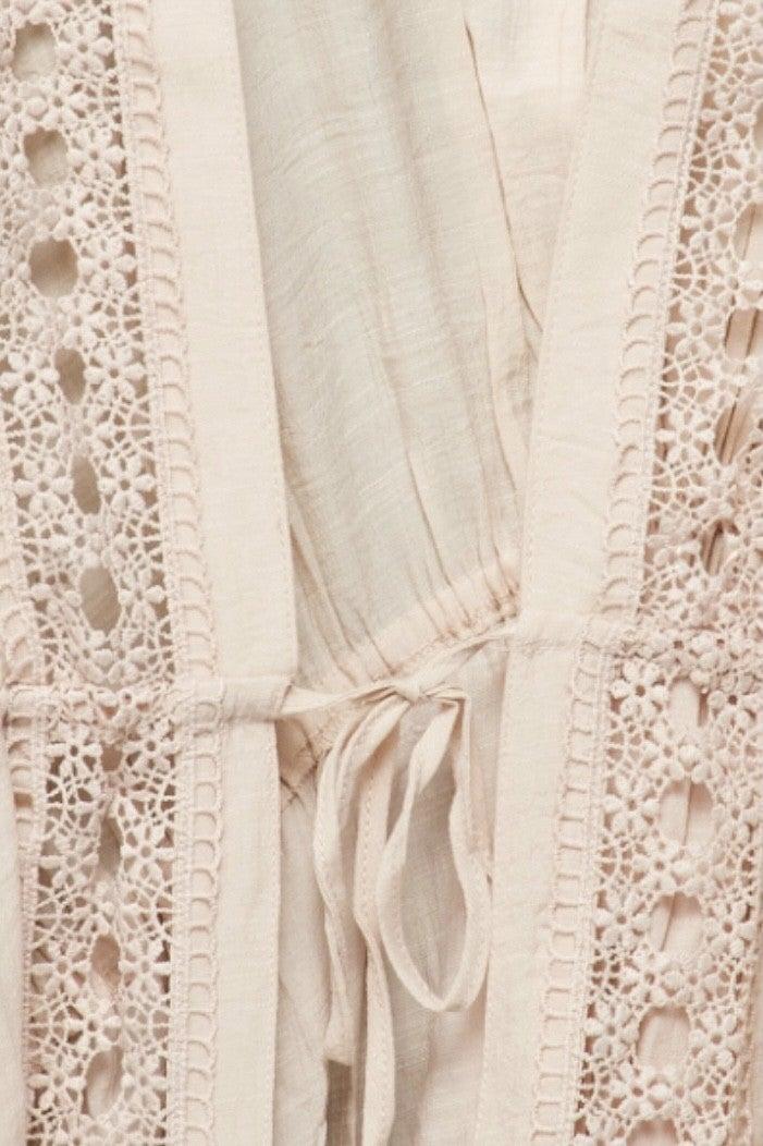Beachy Kimono - Cream