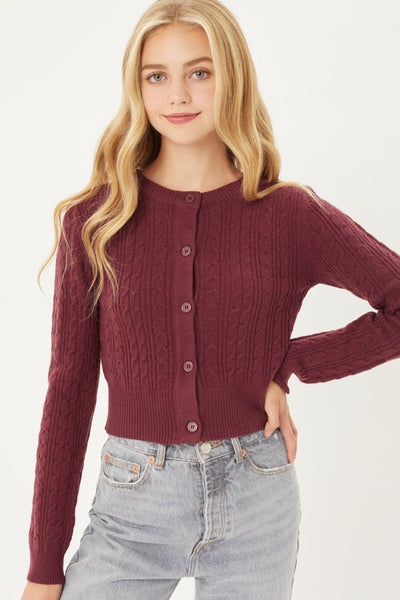 All Buttoned Up Cropped Cardigan Sweater