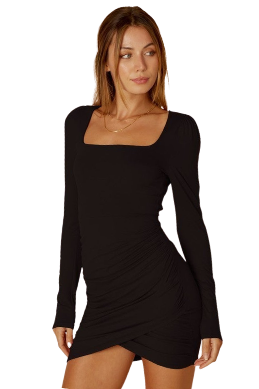 Coming In Clutch Ruched Dress
