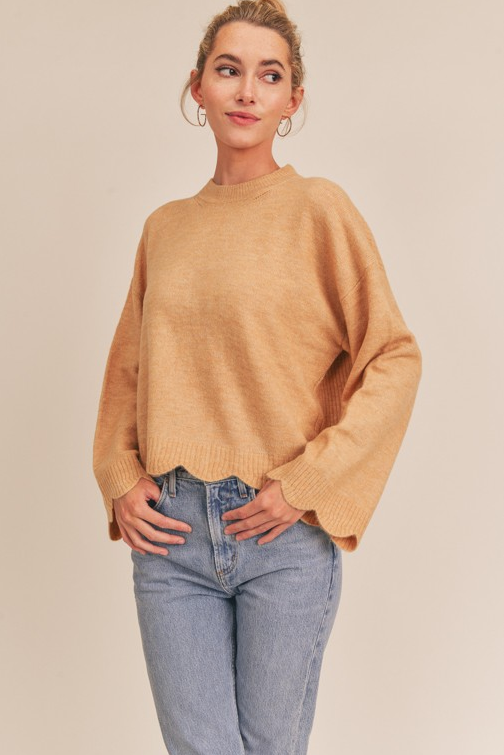 Scalloped Sweater (Color Options)