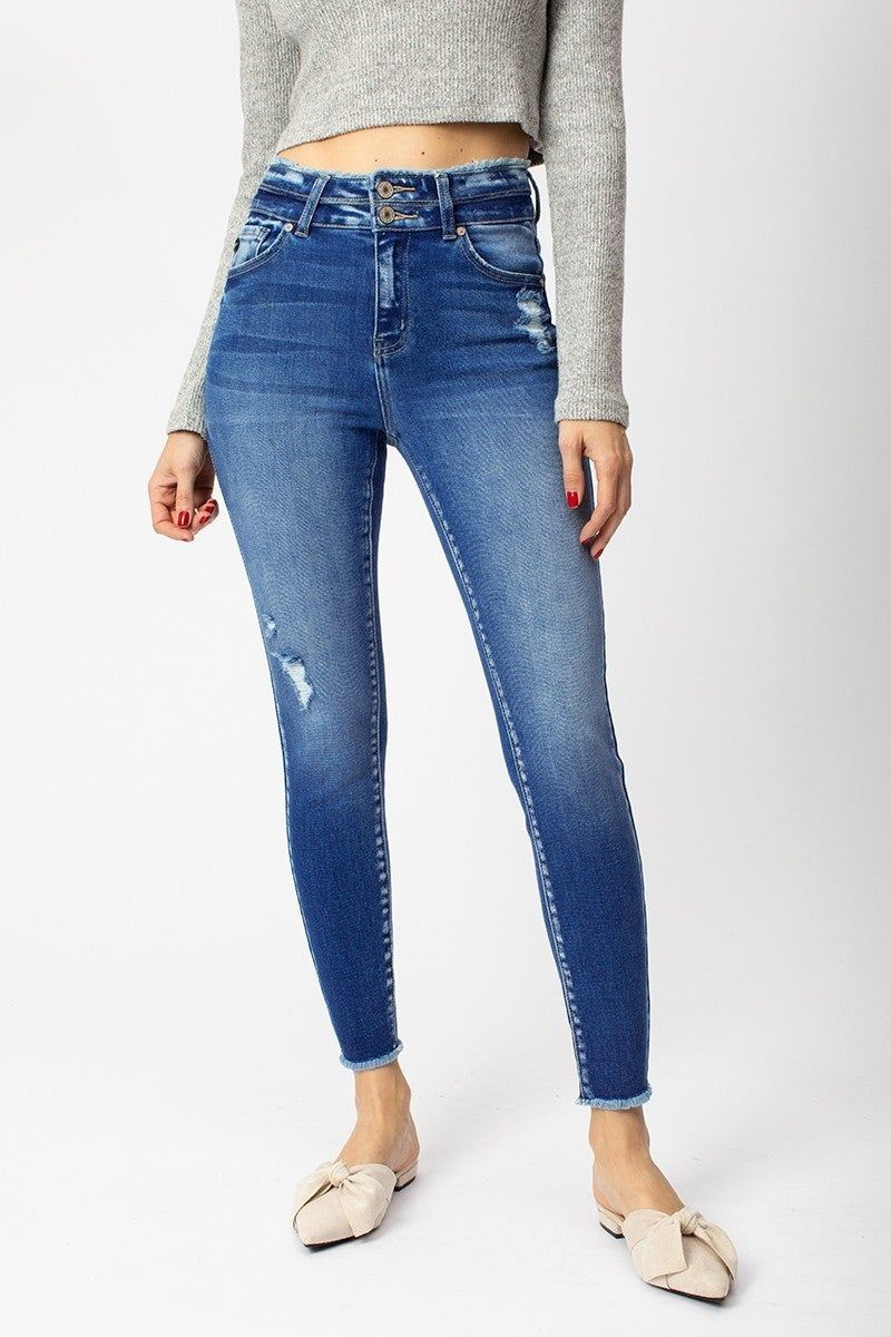 Just For You Frayed Denim Jeans
