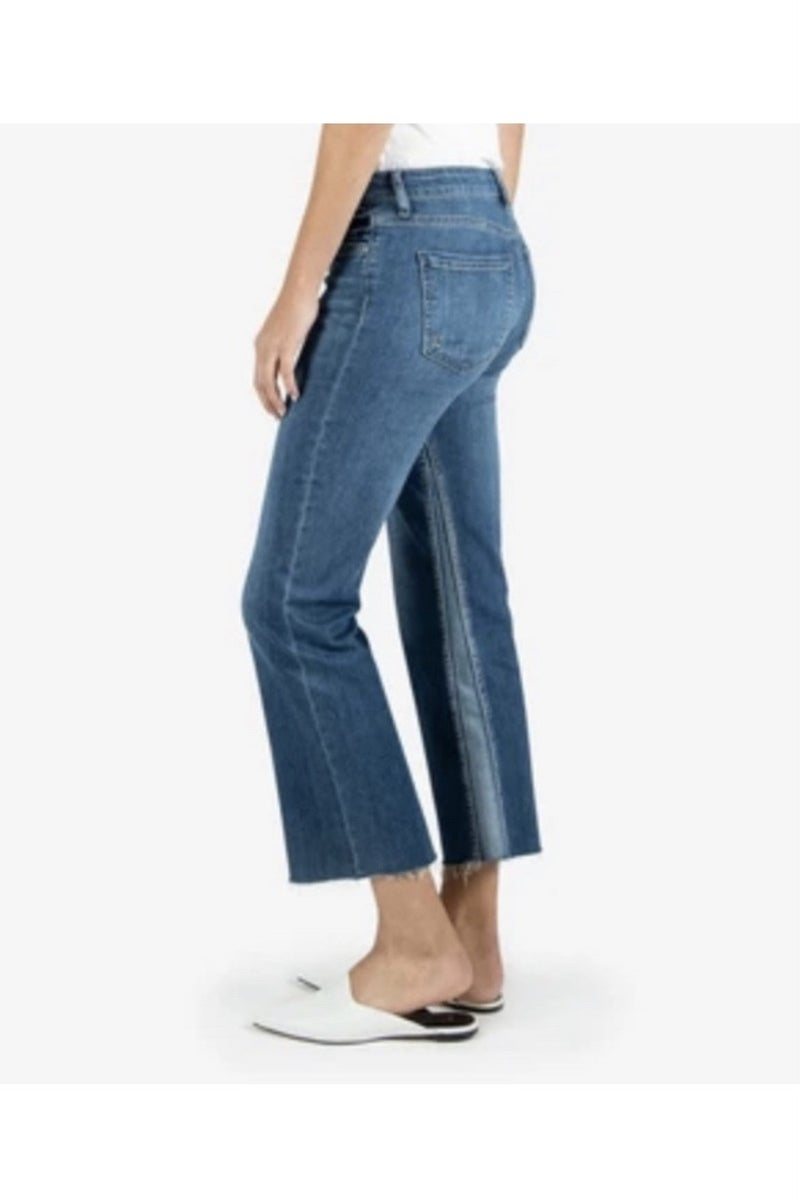 Kelsey High Rise Ankle Flare Denim Jeans