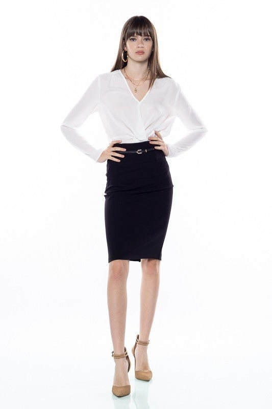 Pencil Skirt With Belt *Final Sale*