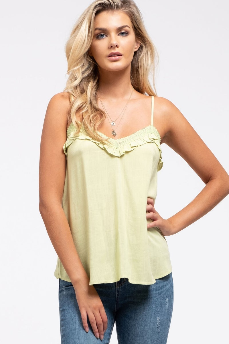 For The Frill Of It Tank Top *Final Sale*
