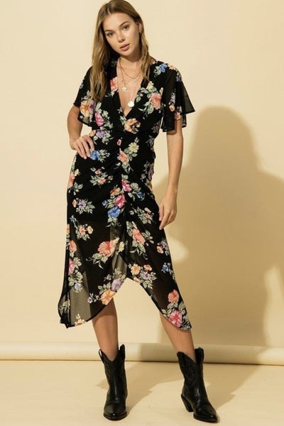 Gathered Front Dress