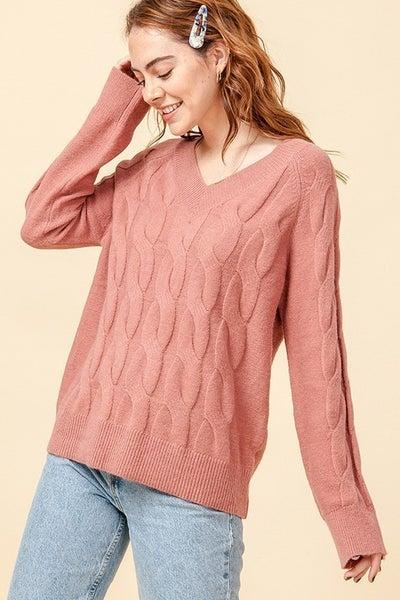 Fuzzy Braided Sweater *Final Sale*