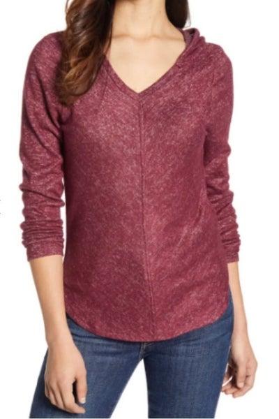 V Neck Hooded Sweater *Final Sale*